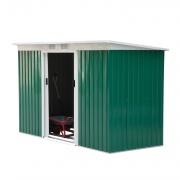 VivaGarden 84503D Casetta Porta Attrezzi Da Giardino Verde 277x130x173cm