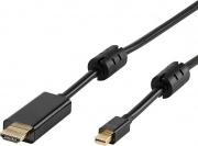 Vivanco 2845344 Adattatore HDMI DisplayPort Lunghezza 1,8 mt Nero
