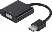 Vivanco 47143 Adattatore HDMI Maschio VGA Femmina Alimentazione USB Nero