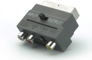 Vivanco 47504 Adattatore S-VHS Mini Din  Scart Nero