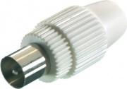 Vivanco 48000 Connettore Antenna Coassiale Maschio Bianco