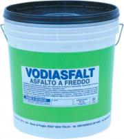 Vodichem Vodiasfalt10Kg Asfalto a Freddo diluibile in Acqua Impermeabilizzante 10Kg Vodiasfalt
