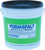 Vodichem Vodiasfalt5Kg Asfalto a Freddo diluibile in Acqua Impermeabilizzante 5 Kg Vodiasfalt