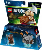 WARNER BROS 71220 Lego Dimensions Fun Pack Lord of Rings Gimli