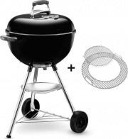 WEBER 1231504 Barbecue a Carbonella BBQ da Giardino ø 47 cm Ruote  Bar-B-Kettle