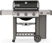 WEBER 61011129 Barbecue a gas piastra ghisa con Coperchio e Ruote E-310 GBS Genesis II