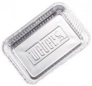 WEBER 6416 Vaschetta per barbecue carbone alluminio  27.9x17.8x5.1 cm 10 pezzi