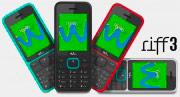 "WIKO WI.RIFF3BK Riff3 - Telefono Cellulare 2.4"" GSM GPRS Bluetooth Nero"