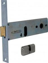 Welka 130.70.01.4E Serratura Porta Alluminio da Infilare Scatola 163x44 mm 3 Ch.
