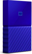 Western Digital WDBYNN0010BBL Hard Disk Esterno 1 Tb USB 3.0 Backup Automatico blu My Passport