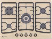 Whirlpool Piano cottura 5 Fuochi incasso a gas 1 Tripla Corona 70 cm AKM394AE