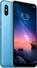 "Xiaomi XIREDNOT6PBL Redmi Note 6 Pro Smartphone Android Dual Sim 6.26"" 64 GB 4G Blu"