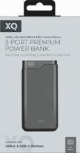 Xqisit 37828 Power Bank 12000Mah Dual Usb Fast Charging Black