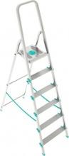 Xtra S107A04W Scala Alluminio Scaletto 4 gradini Domestico Piedini Antiscivolo