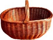 Xtra willow basket Cesta Portalegna Europa cm 55x37 h. 28 in Vimini