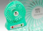 Xtreme Mini Ventilatore Portatile USB da Tavolo 3 Velocità Verde - 10301G