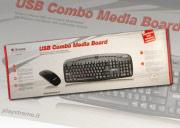 Xtreme Mouse Ottico con Filo USB + Tastiera multimediale Nero - 34626