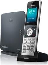 Yealink W60P Telefono Cordless Funzione DECT + Base 8 Account VoIP Nero Silver