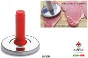Zaseves 96 Batticarne Inox Gr.550 Manico Plastica