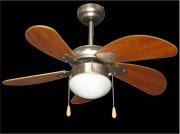Zephir Ventilatore Soffitto con Luce 5 Pale ø 76 cm 3 velocità - ZFS576B