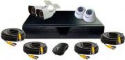 Zodiac Antifurto casa Kit: DVR + 4 x Telecamere Dome  Bullet KT-2104