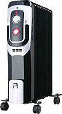 Ardes Termosifone Elettrico Radiatore ad Olio Stufa 9 Elementi Oilo Black AR4R09