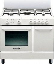 La Germania SP95C21W Cucina a Gas 5 Fuochi Forno Gas Grill 90x60 cm Bianco SP95 C 21 W