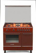 La Germania SP94241C Cucina a Gas 6 Fuochi Forno Elettrico 90x60 cm Marrone SP9 42 41 C