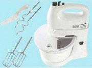 Black & Decker Sbattitore Elettrico Mixer Ciotola 5 Velocità 4 fruste HM 300BL