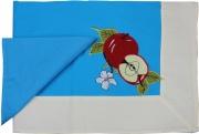 Blanco Raya Tovaglia Cotone 6 posti 140x180 cm + 6 Tovaglioli Azzurro 103301 Mela