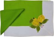 Blanco Raya 103301 - 140x180  Verde Tovaglia Cotone 6 posti 140x180 cm + 6 Tovaglioli Verde 103301 Limone