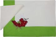 Blanco Raya 103301 - 150x250  Panna Tovaglia Cotone 12 posti 150x250 cm + 12 Tovaglioli Panna 103301 Uva