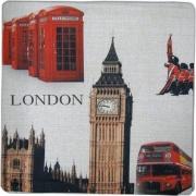 Blanco Raya 2229 - 45x45 Copricuscino per Cuscini Divano 2 Federe Canapone 45x45 cm 2229 London