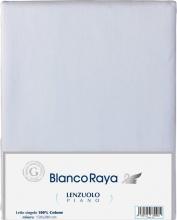 Blanco Raya Lenzuolo Singolo con Angoli Elasticizzati Cotone 90x200 cm - 28540