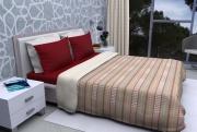 Blanco Raya 8015-5-S Copriletto Singolo Trapunta Invernale Cotone 180x260 cm Augusta 8015-1-S