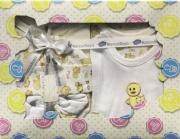 Blanco Raya Completo Neonato 0-6 Cotone Gift Box 5 pezzi Beige PT018