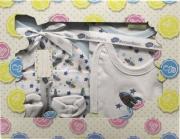 Blanco Raya PT018 - 06M  Blu Completo Neonato 0-6 Cotone Gift Box 5 pezzi Blu PT018