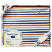 Blanco Raya Copertina Neonato Cotone Culla Carrozzina Plaid 74x100 cm Riga PT6675