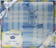 Blanco Raya PT6677 - 74x100Blu Copertina Neonato Culla Carrozzina Plaid Invernale 74x100 cm Blu PT6677