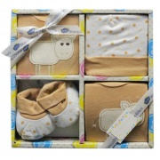 Blanco Raya PT8766 - 06MBeige Completo Neonato 0-6 Cotone Gift Box 4 pezzi Beige PT8766