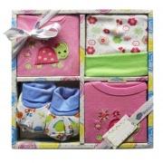 Blanco Raya PT8766 - 06MRosa Completo Neonato 0-6 Cotone Gift Box 4 pezzi Rosa PT8766