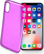 Cellular Line COLORCIPH8V Cover Custodia in Gomma per Apple iPhone X Viola COLORCIPHXV