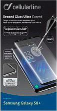 Cellular Line TEMPGCUCFGALS8PLK Pellicola Vetro Temperato Curvo Galaxy S8+