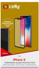 celly 3DGLASS900BK Pellicola Protettiva Apple iPhone X, iPhone Xs Trasparente