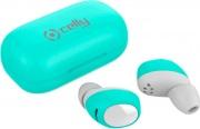celly BHTWINSAIRTF Earbuds Auricolari Bluetooth Pods Custodia Ricarica Verde