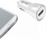 celly CCUSBW Caricabatterie Auto USB 12 V Accendisigari Smartphone e Tablet Bianco