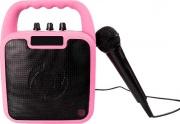 celly KIDSPARTYPK Cassa Bluetooth Portatile Karaoke Altoparlante Microfono Rosa