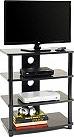 Ciatti Mobile Supporto TV Universale 4 ripiani MDF Nero Laccato - M2001L