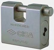 CISA 128550 84 0 Lucchetto Corazzato Rettangolare monoblocco Acciaio 84mm36mm