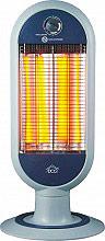DCG Eltronic Stufa elettrica al Carbonio Infrarossi Potenza 1200 Watt Oscillante SA9829